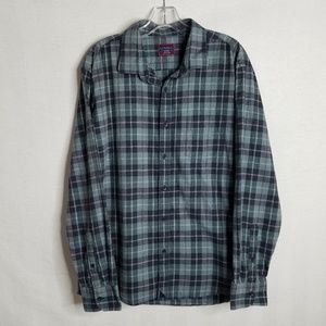 UNTUCKit Mens Button Front Long Sleeve Plaid Shirt